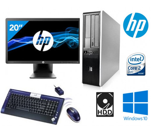 "COMPUTADOR HP 7900 SFF INTEL Core 2 Duo E5800 3.0Ghz  8GB HDD 500GB  DVDRW  ""GRAU A""  + MONITOR HP EliteDisplay E201 20"" LED Backlit DVI-D, DisplayPort, VGA, USB 2.0 "" GRAU A"" + TECLADO GENIUS WIRELESS TWIN TOUCH LUXEMATE"