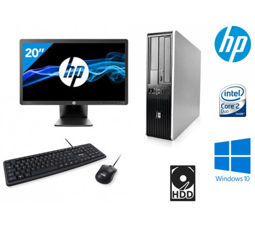"COMPUTADOR HP 7900 SFF INTEL Core 2 Duo E2200 2.2Ghz  8GB HDD 250GB  DVDRW  ""GRAU A""  + MONITOR HP EliteDisplay E201 20"" LED Backlit DVI-D, DisplayPort, VGA, USB 2.0 "" GRAU A"" + TECLADO USB PT + RATO USB"