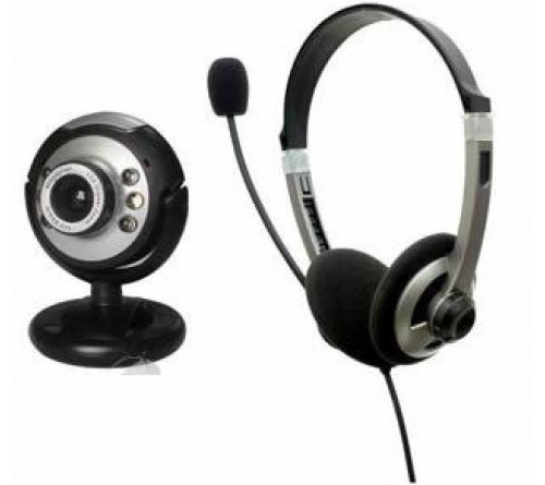 Webcam & Headset OMEGA Webcam H23 - 1,3 Megapixels